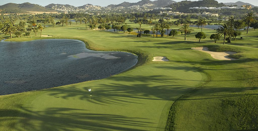 Work on your swing in the huge golf course