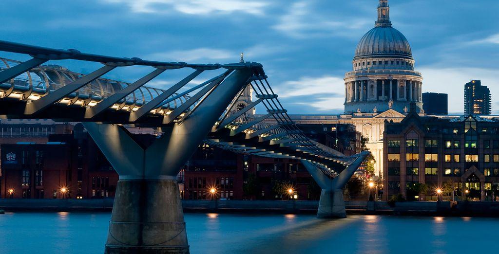 Like the impressive structure of the Millenium Bridge