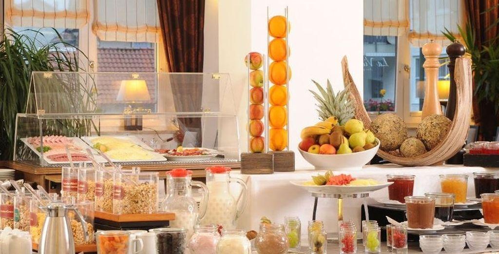 Come the morning enjoy a buffet breakfast