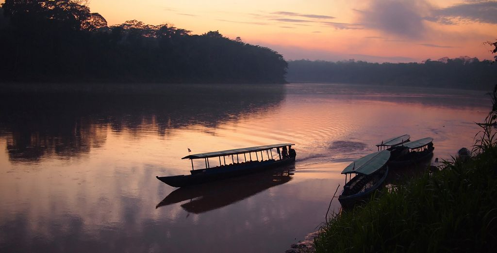Including on a tranquil boat ride to your jungle lodge