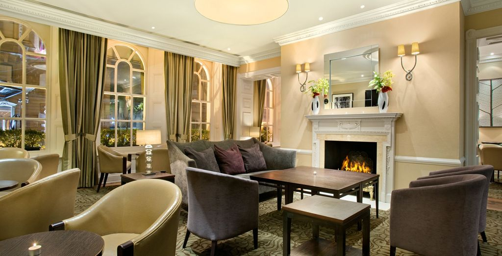 End the day with a relaxing glass of wine in the lounge by the roaring fire