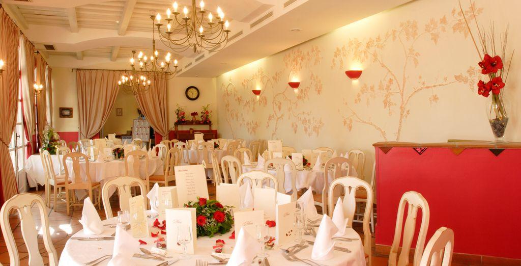 Dine in the elegant restaurants