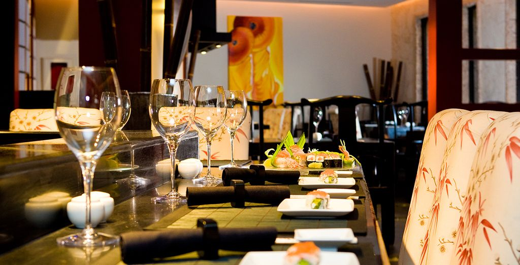 So you can indulge your tastebuds at a range of elegant restaurants