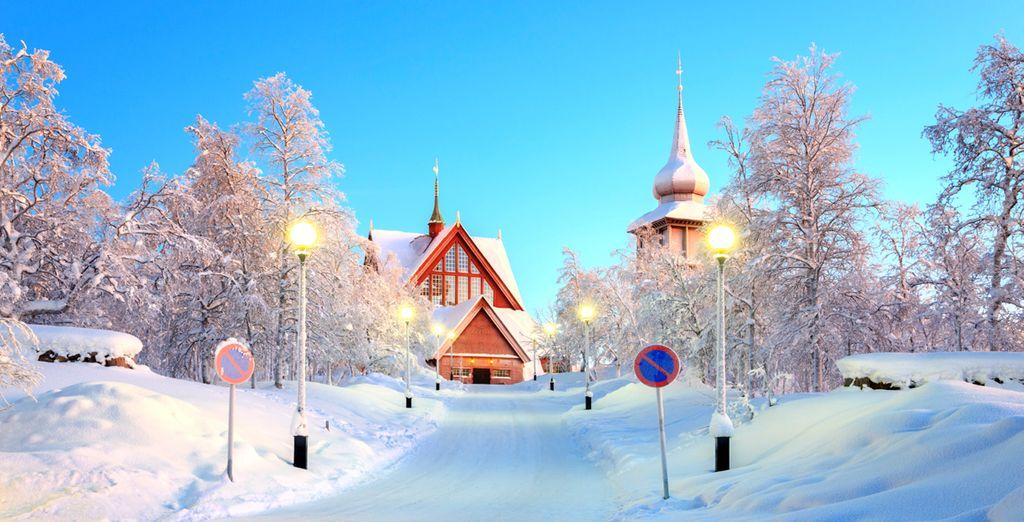 In the town of Kiruna in Swedish Lapland