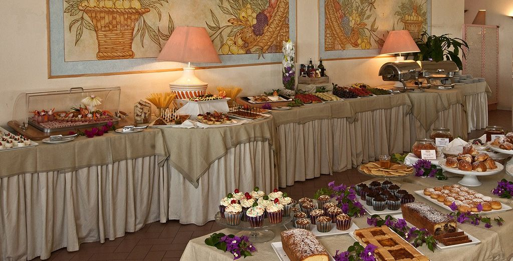 Wake up to a fantastic spread for breakfast every morning
