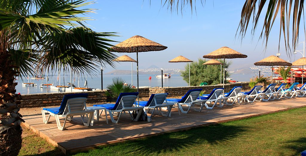 Or soak up the sun looking over Ortakent Bay