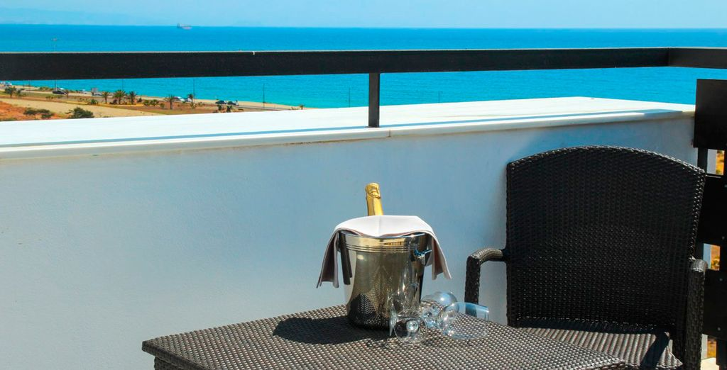 With spectacular views of the Mediterranean
