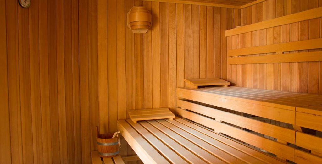 Unwind in the superb spa