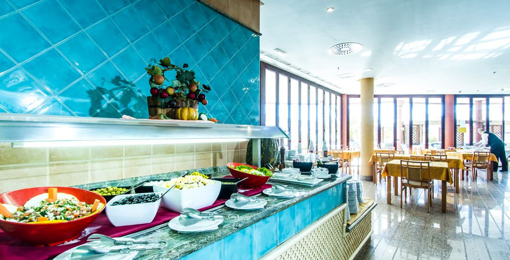 Enjoy a Half Board stay as you try tempting menus and delightful buffets