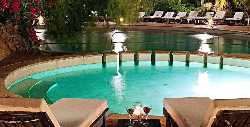 Relax by the sparkling pool