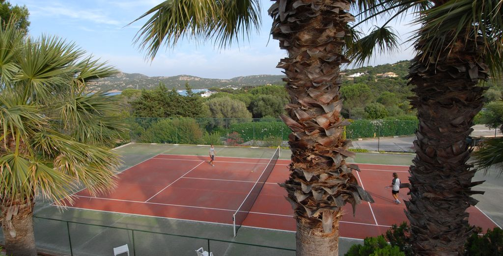 Burn up a sweat on the tennis court