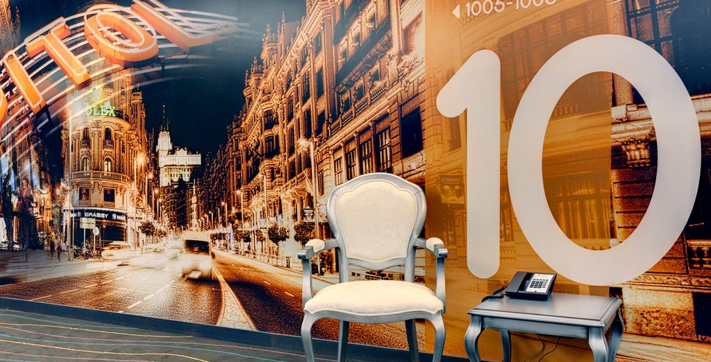 With decor inspired by the historic Gran Vía