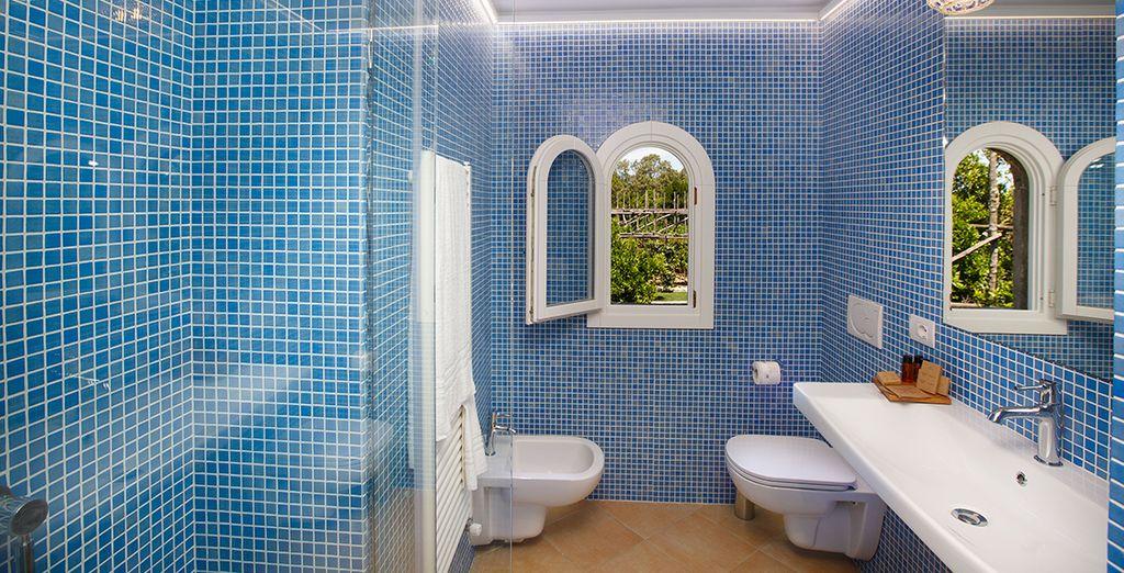 Complete with luxury bathroom