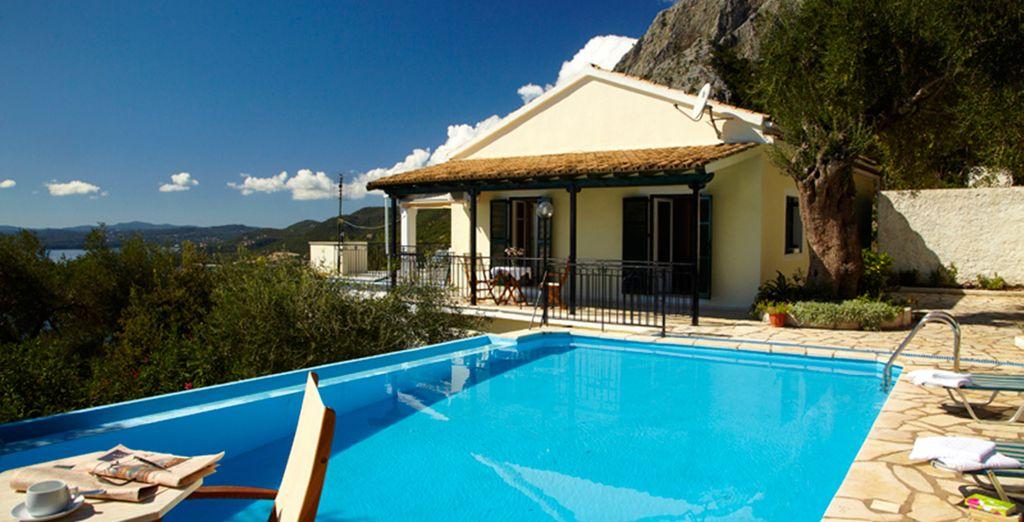 On the beautiful island of Corfu (Villa Georgina)