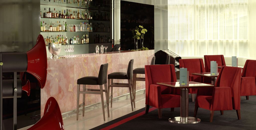 Wind down with a drink at the stylish bar