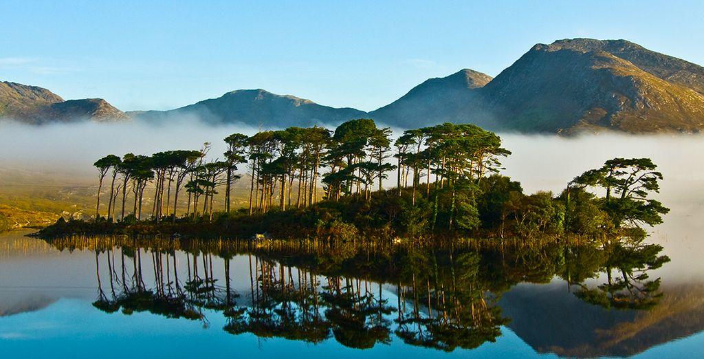 Before reaching the Connemara -  the most wild yet romantic part of Ireland