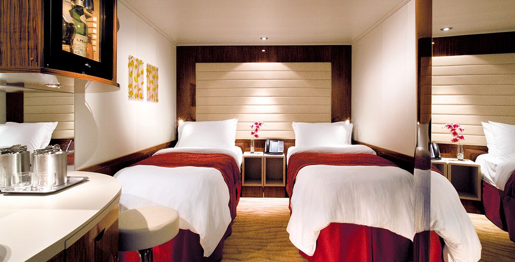 Stay in luxurious staterooms (Inside Stateroom)