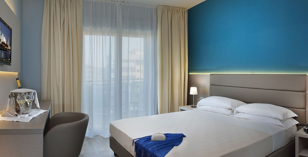 The rooms offer superb comfort