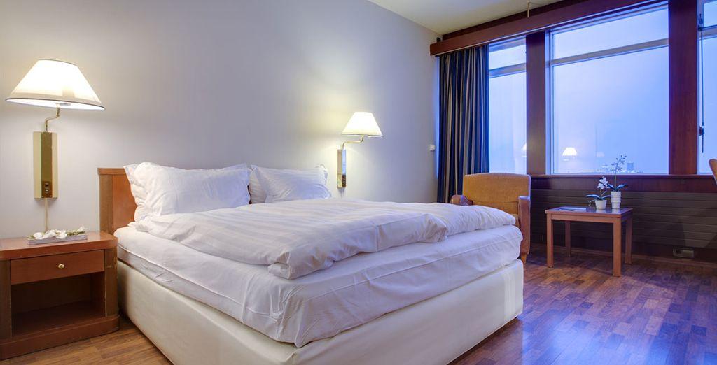You will be staying at the Radisson Blu Saga Hotel