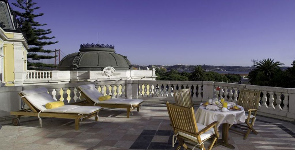 Or soak up some rays on the terrace