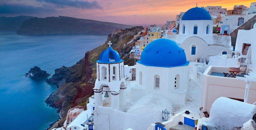 A Santorini romance awaits you