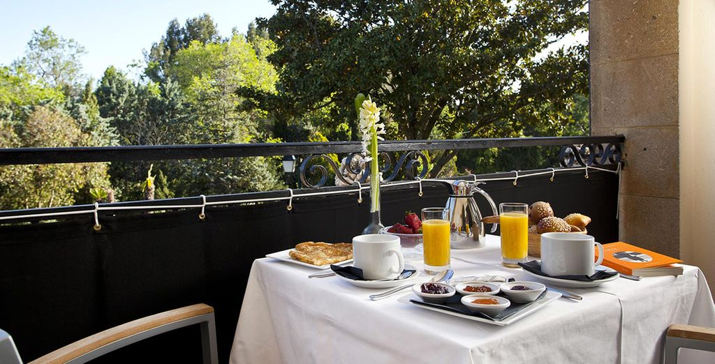 Where you can enjoy breakfast on your private terrace