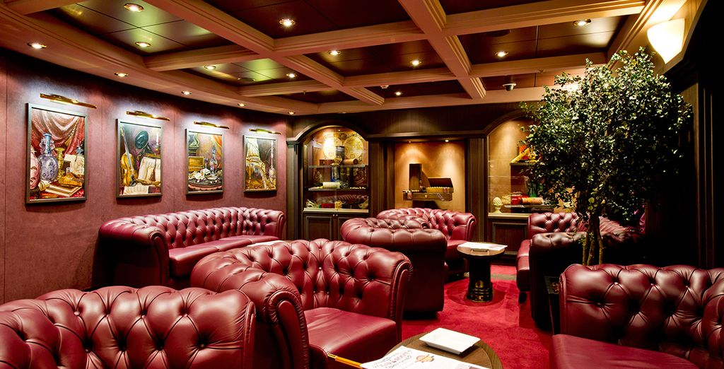 Or the sophisticated Cigar Lounge, to reminisce on your day's adventures
