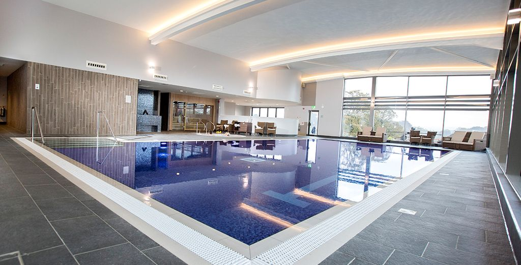 Unwind in the spa, home to an indoor pool