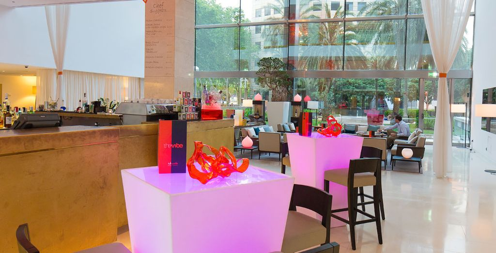 Try some cocktails and tapas in the cool Vibe Bar
