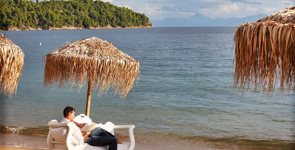 Unwind with a book on the private beach