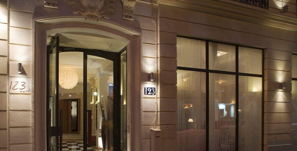 Step into this elegant hotel