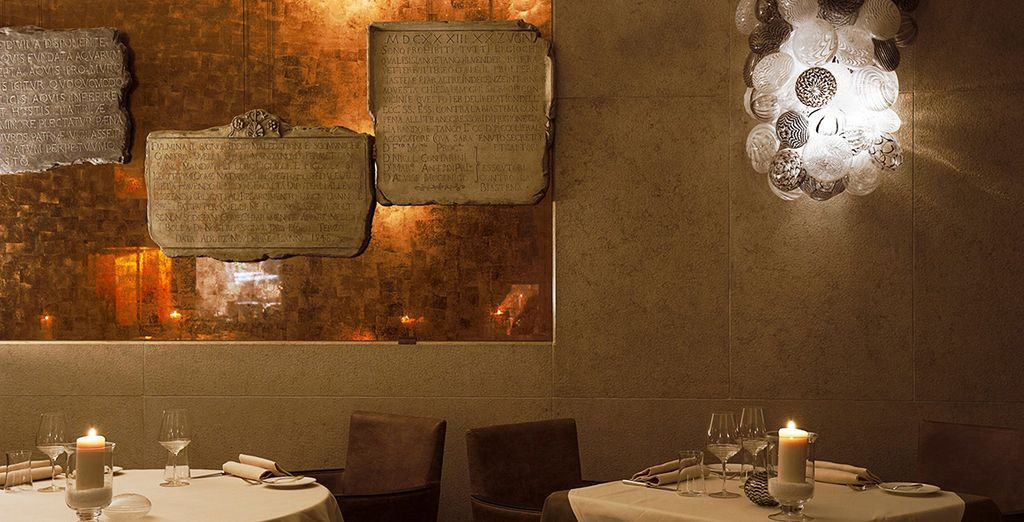 For a delicious dinner at the Michelin starred restaurant