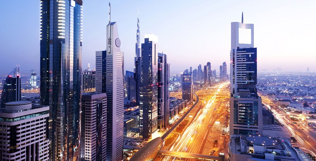 ...stay in Dubai's most exciting location  - Sheikh Zayed Road