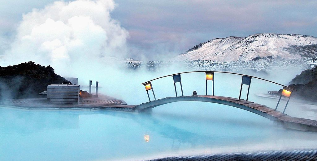 Take a bath in the steamy Blue Lagoon