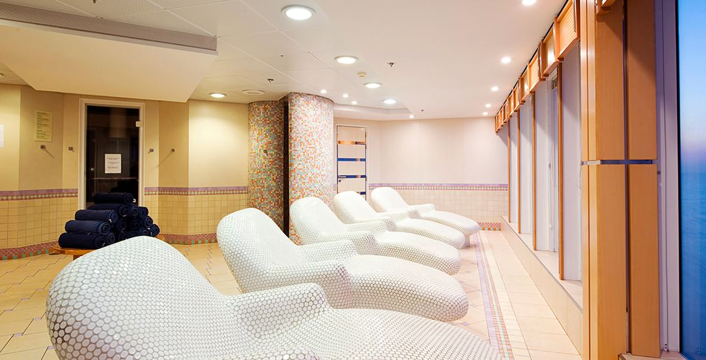 Including a plush relaxation and spa area to retreat to