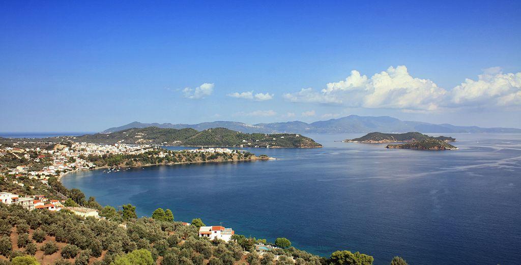 On the naturally beautiful island of Skiathos