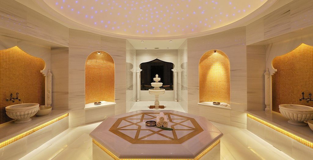 Head to the Turkish Hammam and rejuventate your senses