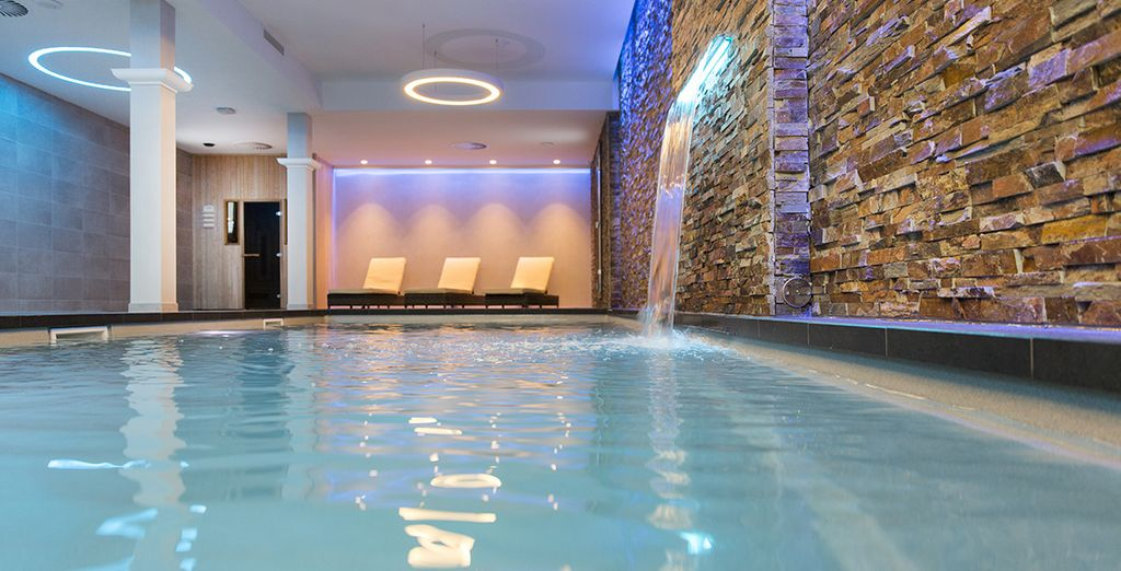 Relax with an indoor pool and wellness centre...