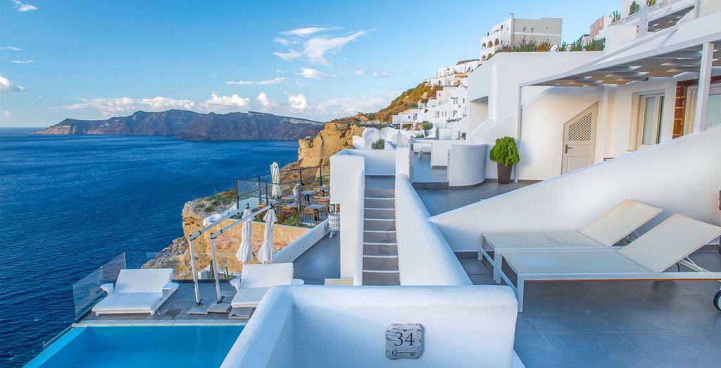 At the 5* Santorini Secret Suites & Spa