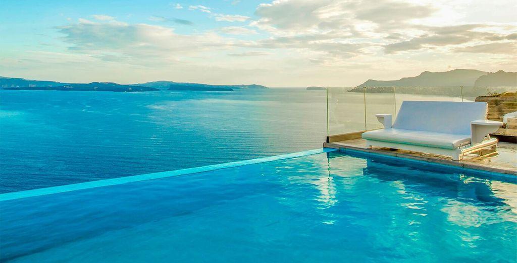 Endless blue views...