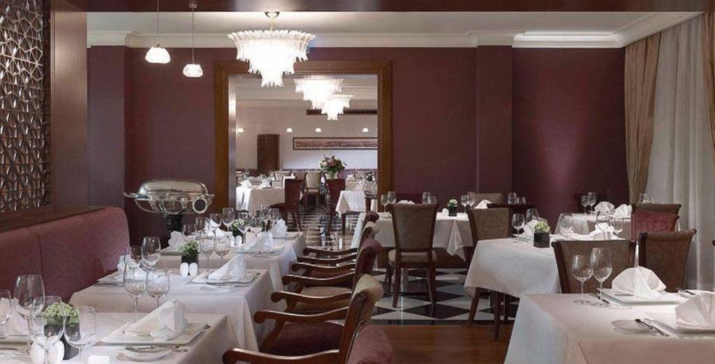 Dine in the superb hotel restaurants