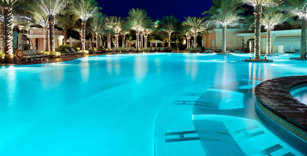 Cool off from the heat in the expansive pool