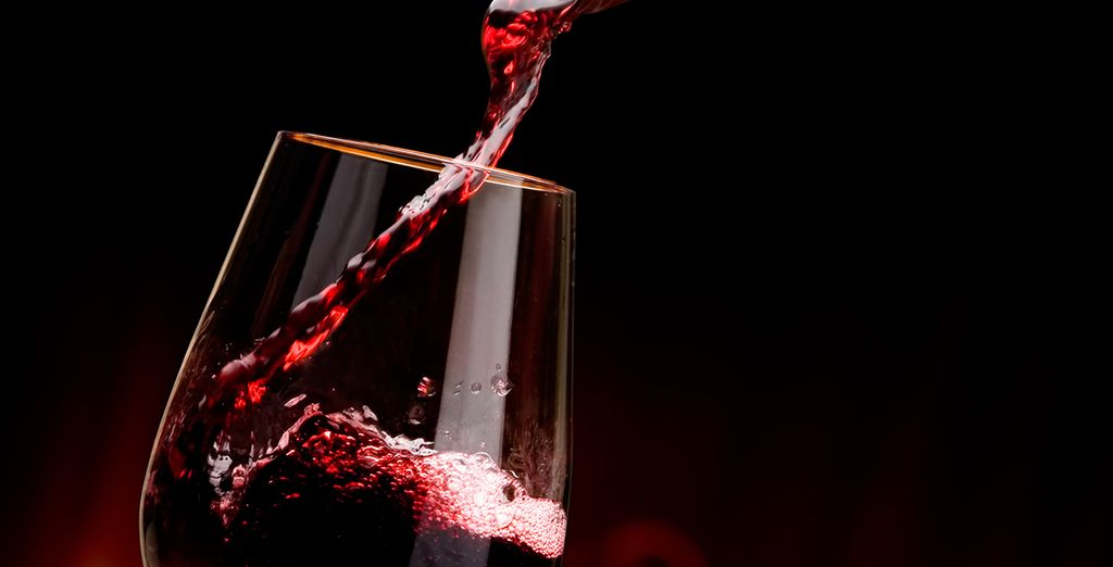 Enjoy a glass of welcome port wine...