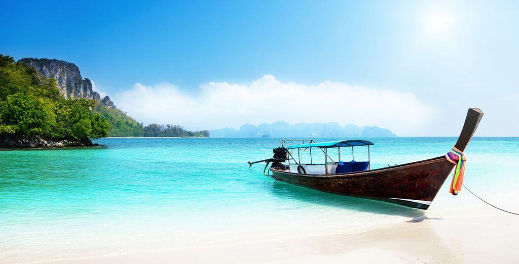 At this tropical paradise