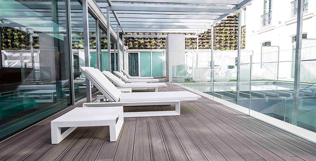 Or relax out on the terrace