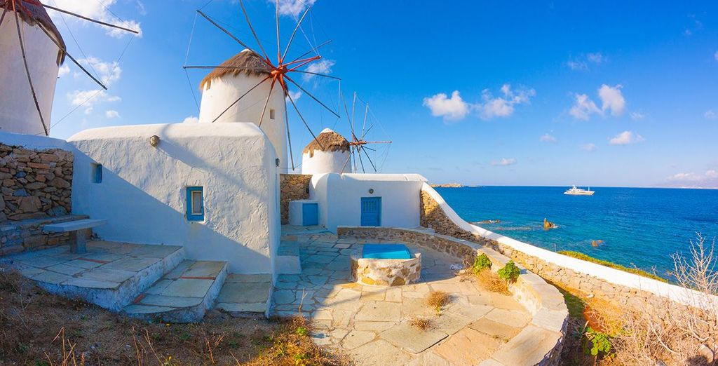 Including the famous Mykonos windmills