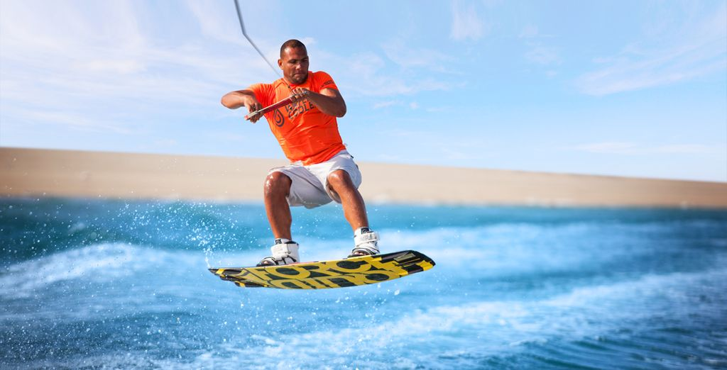 From inflatable donut rides behind the boat to wakeboarding and waterskiing!