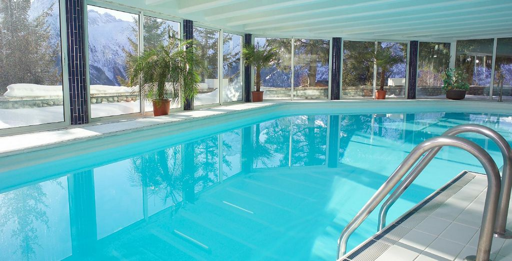 Or take a dip in the indoor pool
