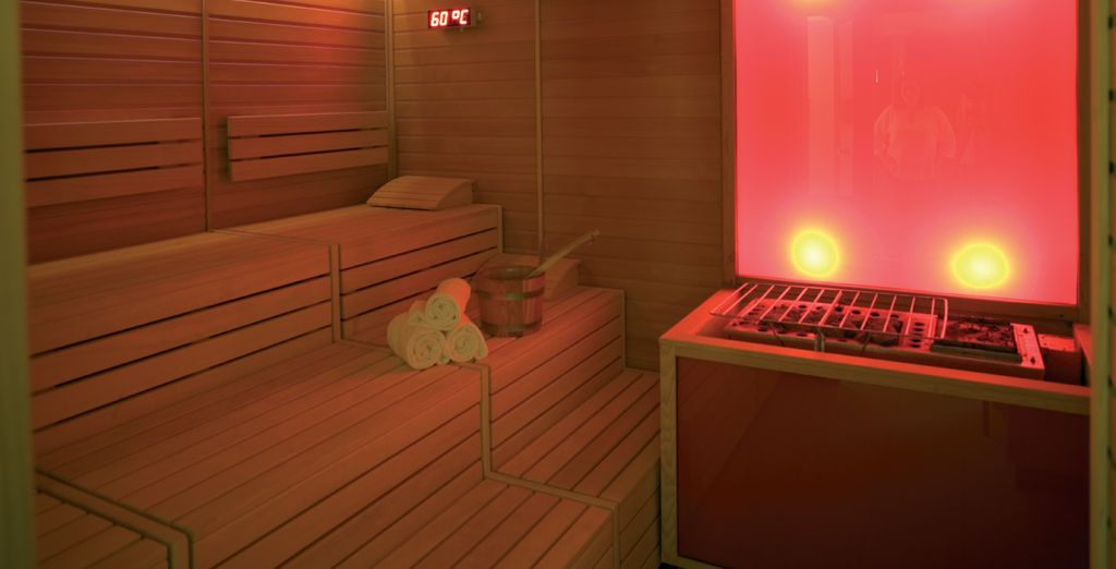 As well as free access to the Wellness Centre - great for relaxing after sightseeing