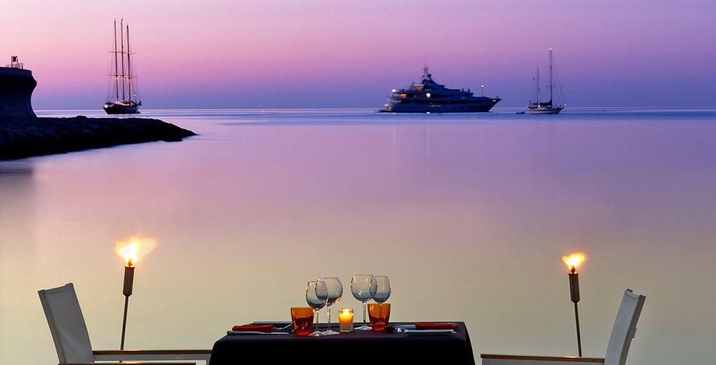 Then splash out on a romantic dinner after your exciting day